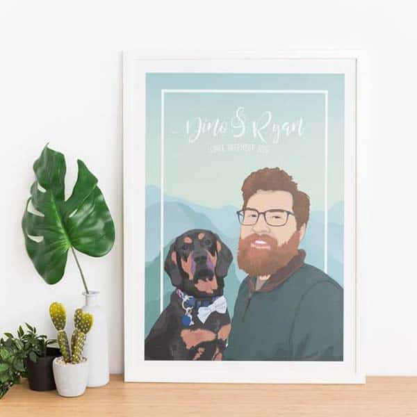Portrait With Pets