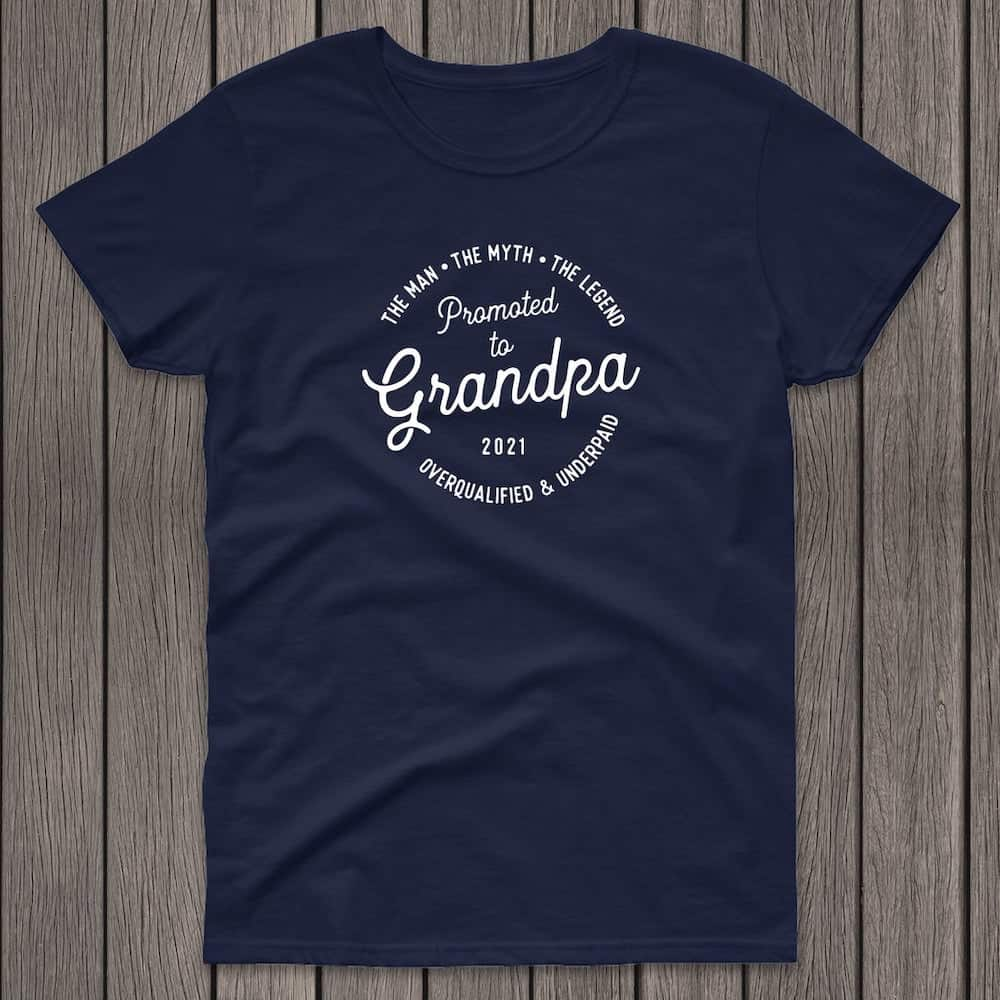promoted to grandpa 2021 tshirt gift for new grandparent