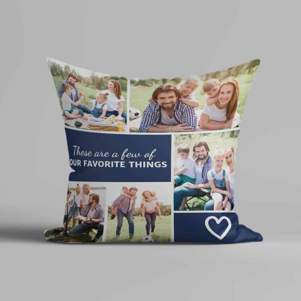 a photo collage pillow fathers day gift for husband