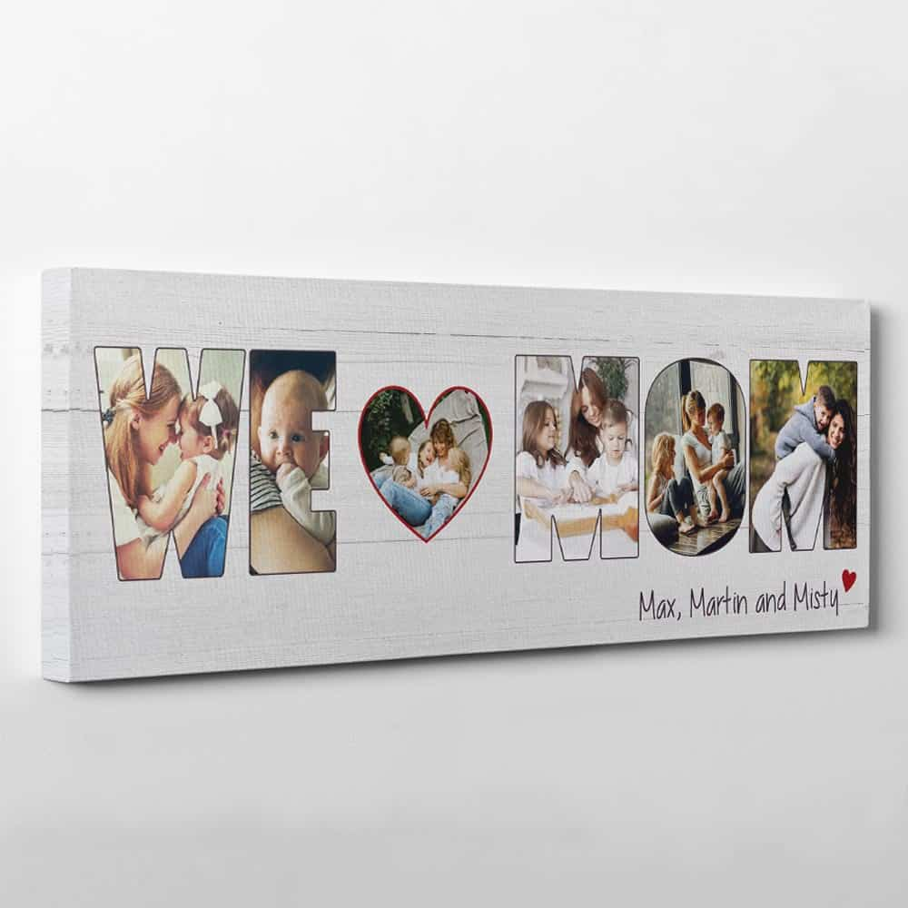 a letter photo collage canvas print: gift for mom's birthday