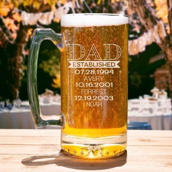 Custom Dad Established Beer Mug
