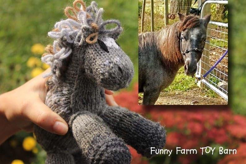 Custom Handmade Plushie - gifts for horse lovers