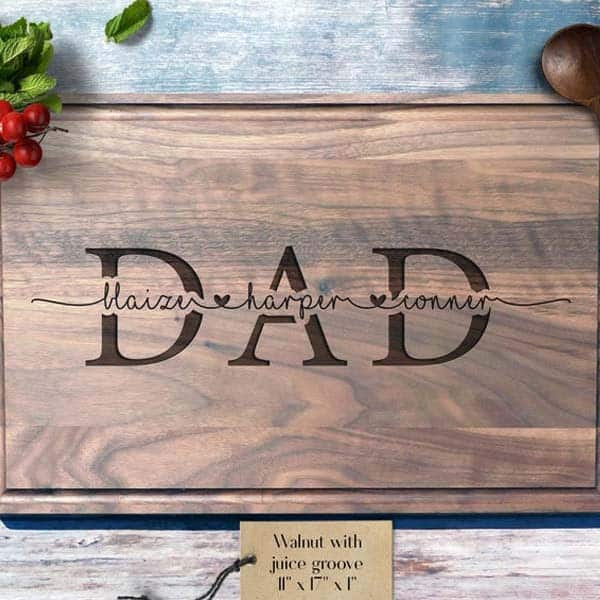personalized gifts for dad from baby: Engraved Cutting Board
