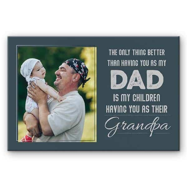 custom dad gifts: Having You as My Dad Photo Gift