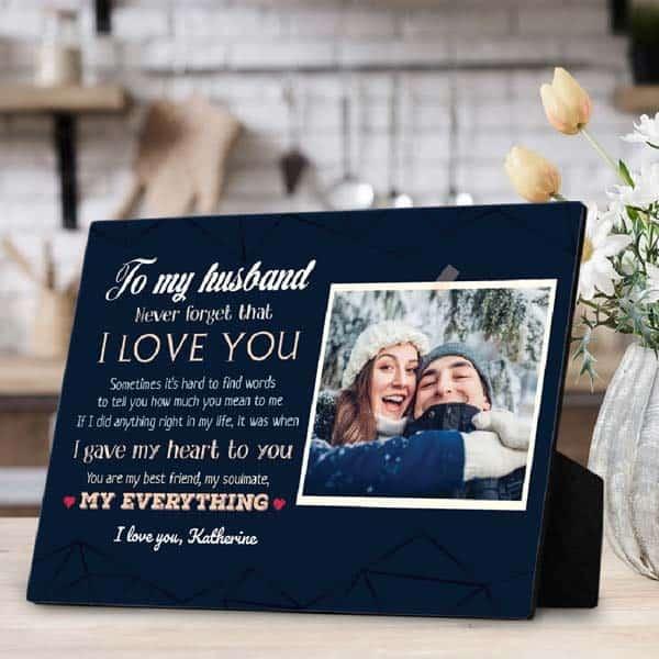 I Love You Desktop Plaque