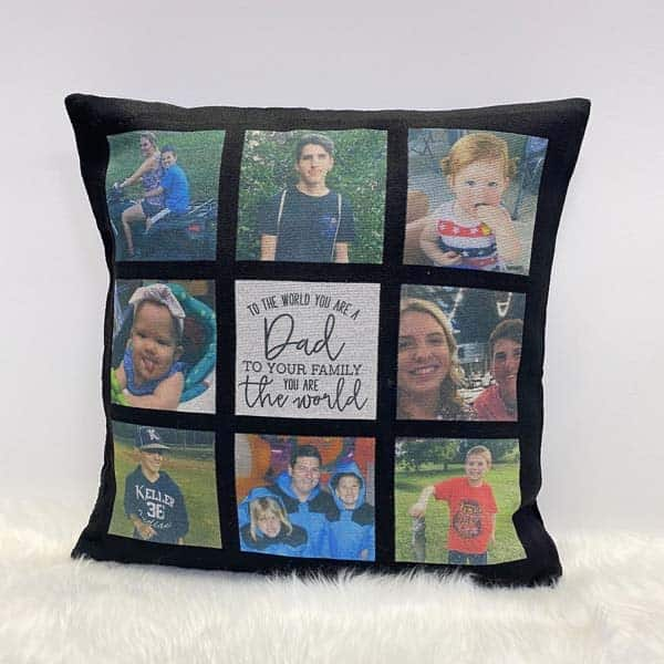 personalized gifts for dad from baby: One-Of-a-Kind Photo Pillow