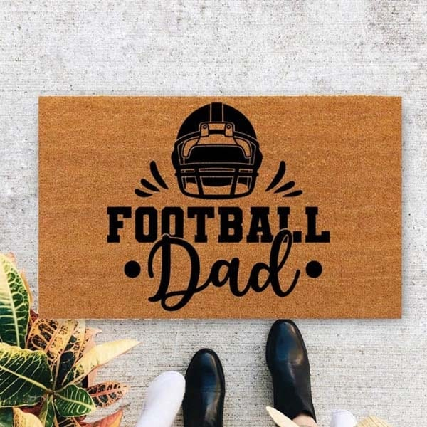 dad personalized gifts: Personalized Door Mat