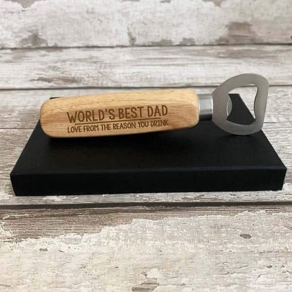 Personalized Wooden Bottle Opener