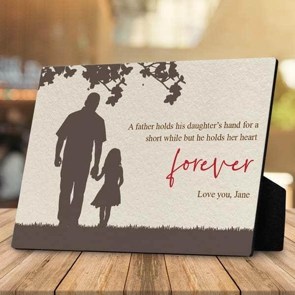 dad photo gifts: Silhouette Custom Desktop Plaque
