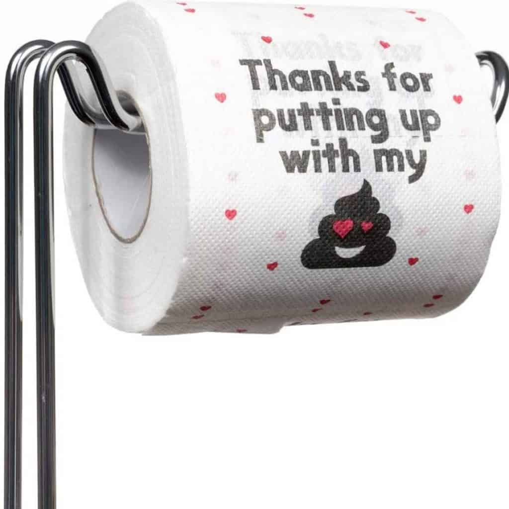 Thanks for Putting Up With My Funny Toilet Paper for Boyfriend