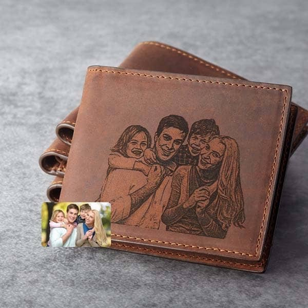 personalized gift ideas for dad: Unique Picture Wallet