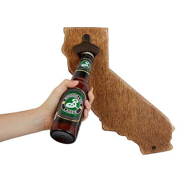 Wall-Mounted State Bottle Opener