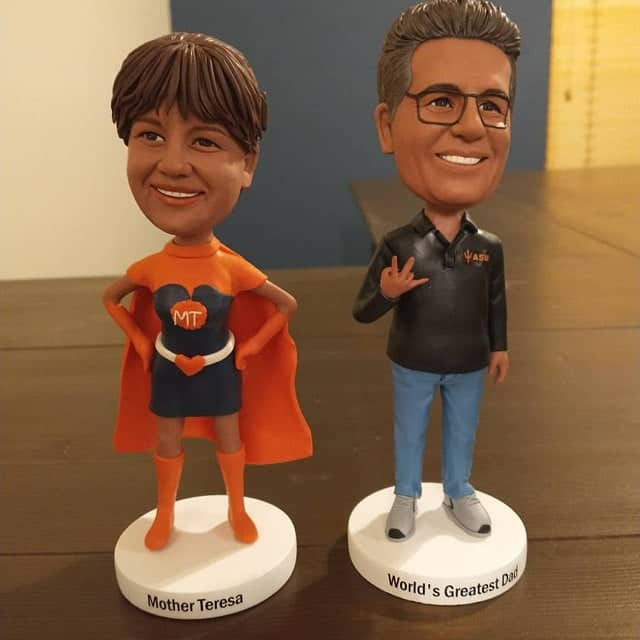couple bobblehead anniversary gift for him her couples