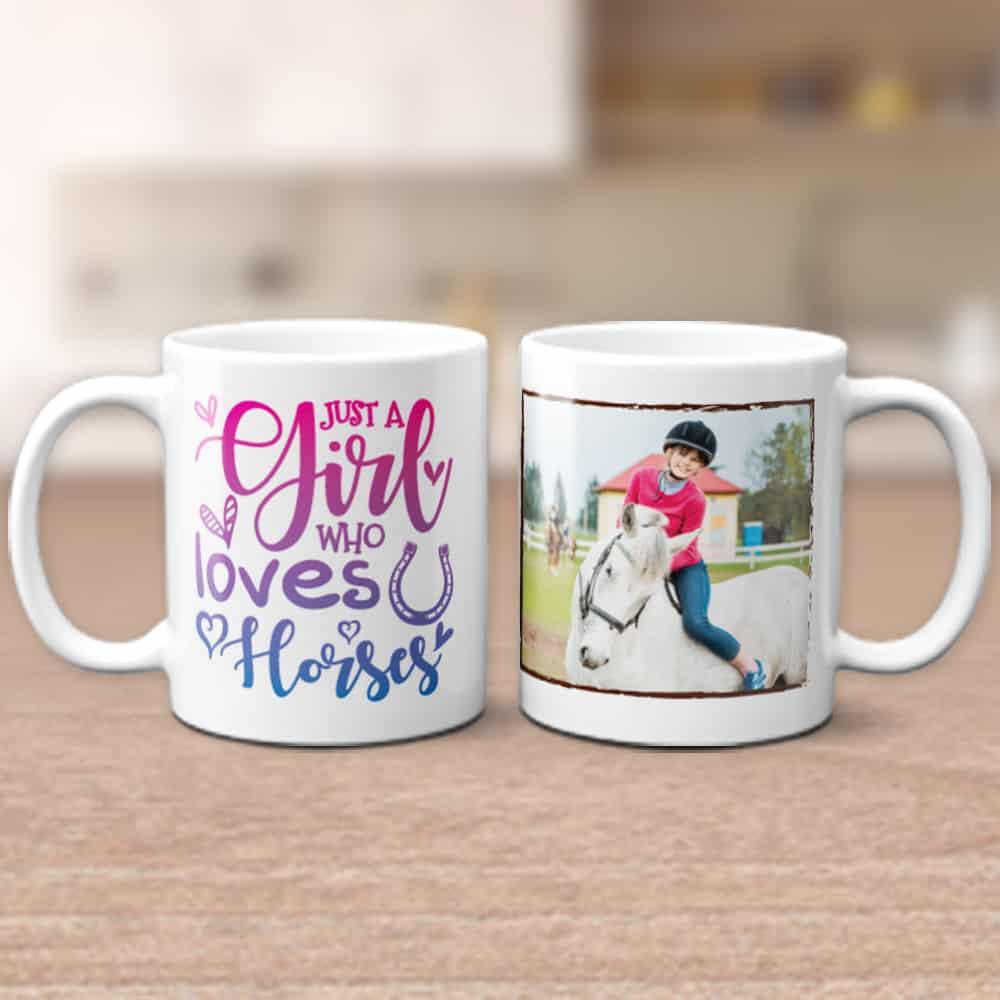 custom photo mug - gifts for horse lovers