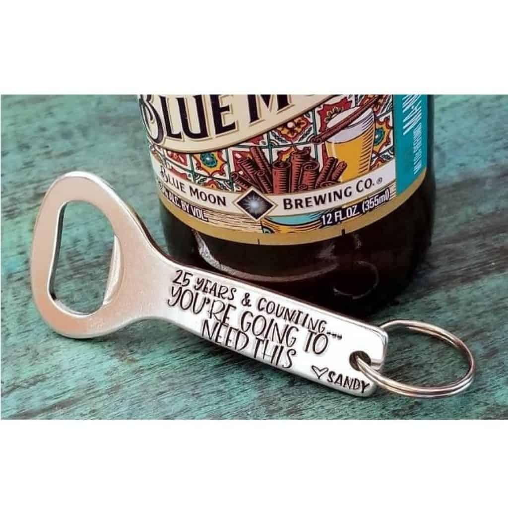 funny bear bottle anniversary gift for husband