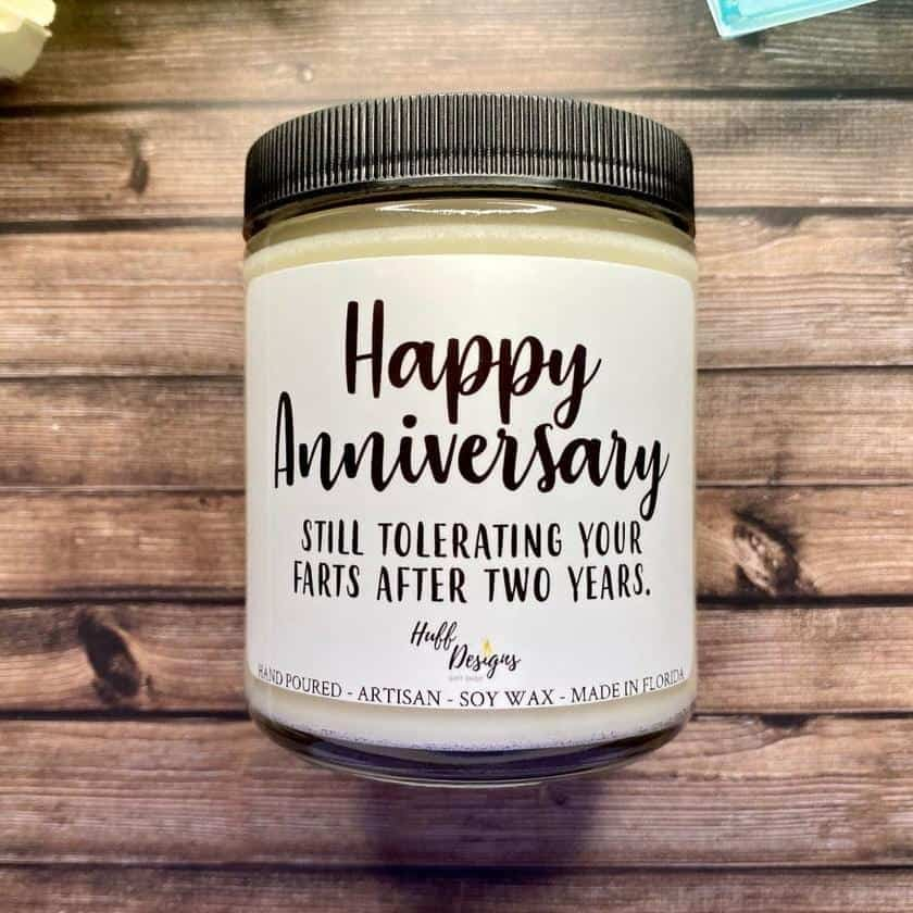 Still Tolerating Your Farts Anniversary Candle Gift