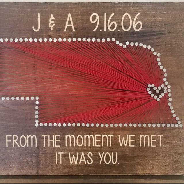 string art - traditional anniversary gift by the year 13