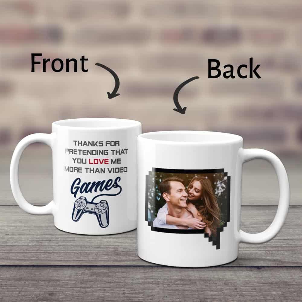 a funny mug gift for a gamer boyfriend