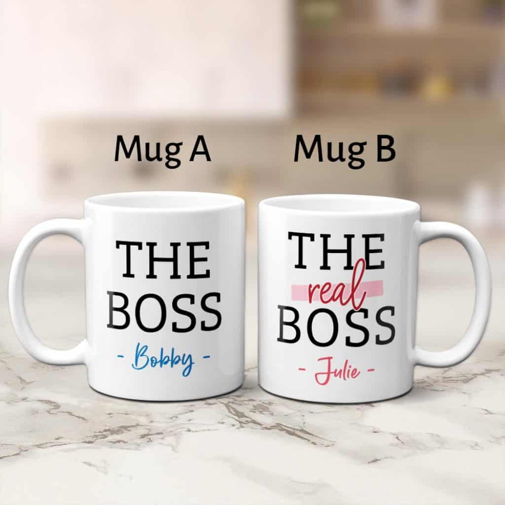 funny mugs gift for boyfriend with couples names