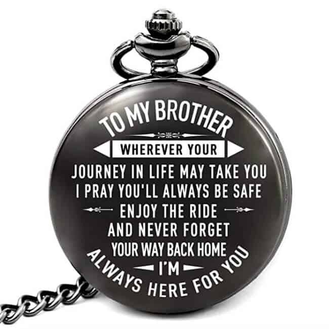to my brother personalized pocket watch