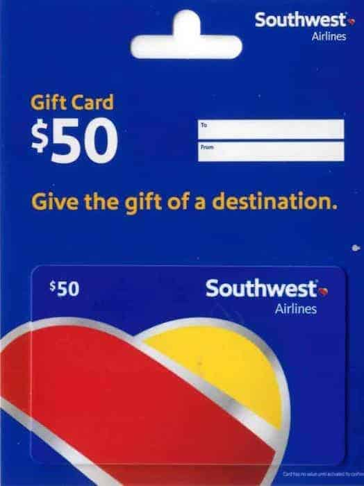a 50 dollars Airline Gift Card