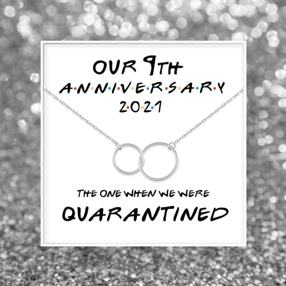 9th anniversary necklace gift for her