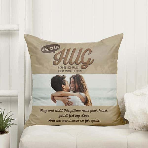 top anniversary gifts for girlfriend: A Great Big Hug Pillow