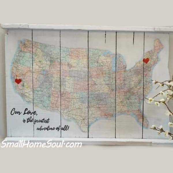 homemade gifts for girlfriend: A Journey of Love Map Art