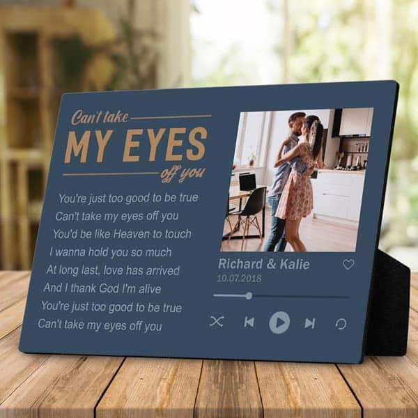 romantic anniversary gifts for girlfriend: Can't Take My Eyes Off You Photo Gift