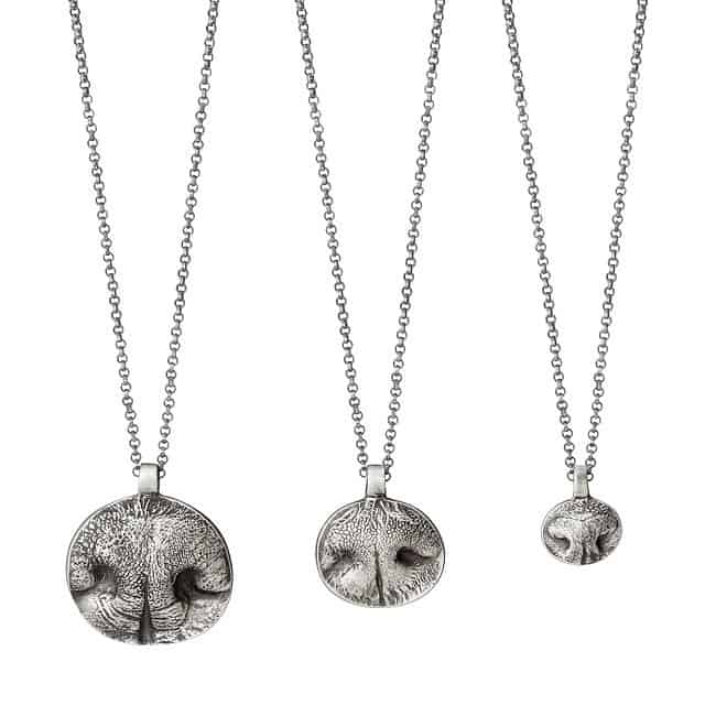 Custom Pet Nose Print Necklaces for dog lover
