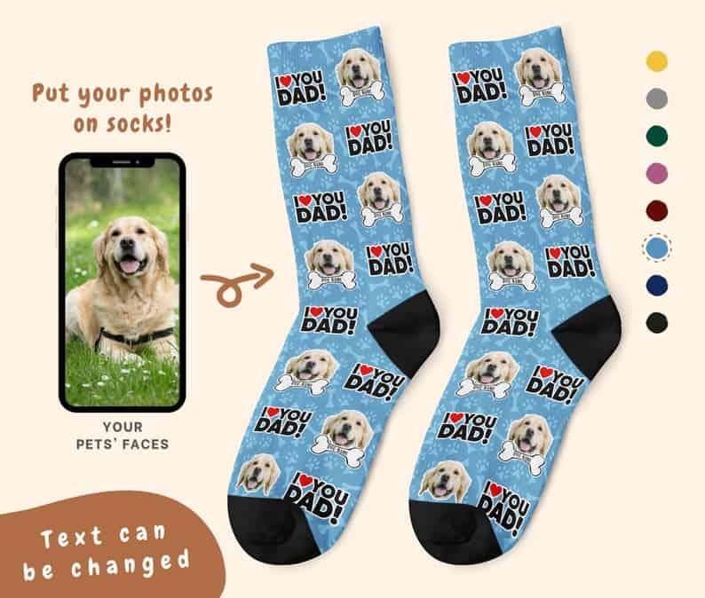 Custom Socks Christmas gift for Dog Dads