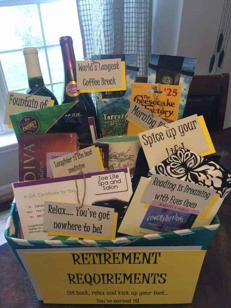 DIY Gift Basket - Teacher Retirement Gift From The Staff