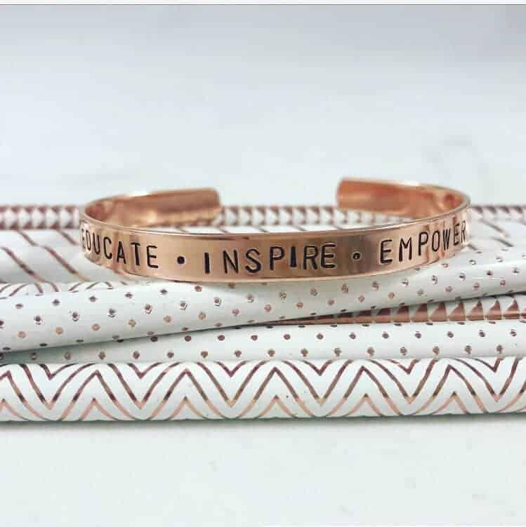 Cuff Bracelet - Female teacher retirement gift idea