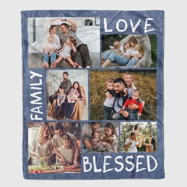 Family Love Blessed blanket - christian gifts for sister