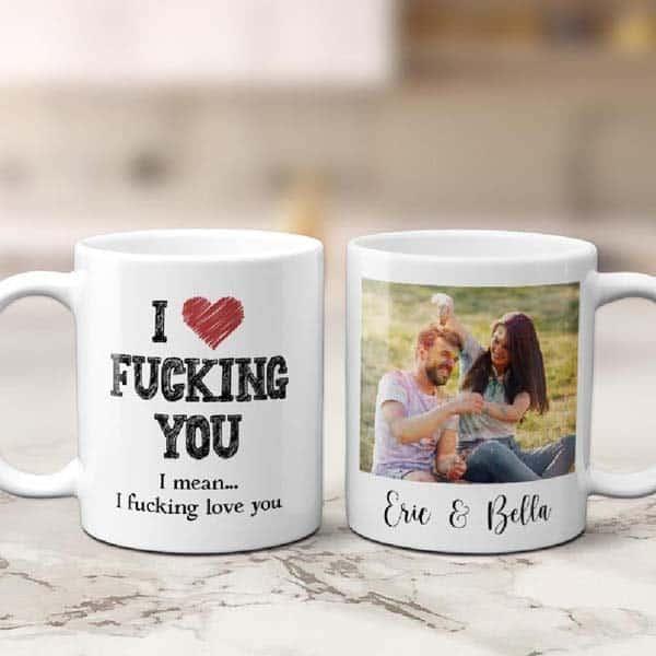 dating anniversary gifts for girlfriend: Funny Photo Mug