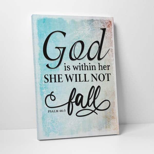 faith based gifts for her: god is within her wall art