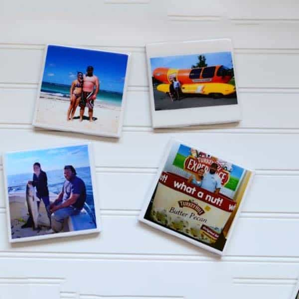 diy gifts for your girlfriend: Handmade Photo Coasters