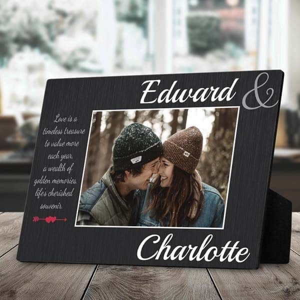 creative ideas for anniversary gifts for girlfriend: Love Is a Timeless Treasure Plaque