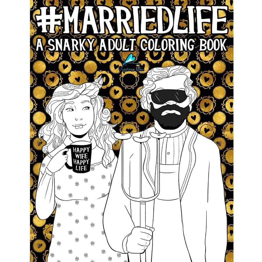 Adult Coloring Book As A Funny Anniversary Gift for Couples