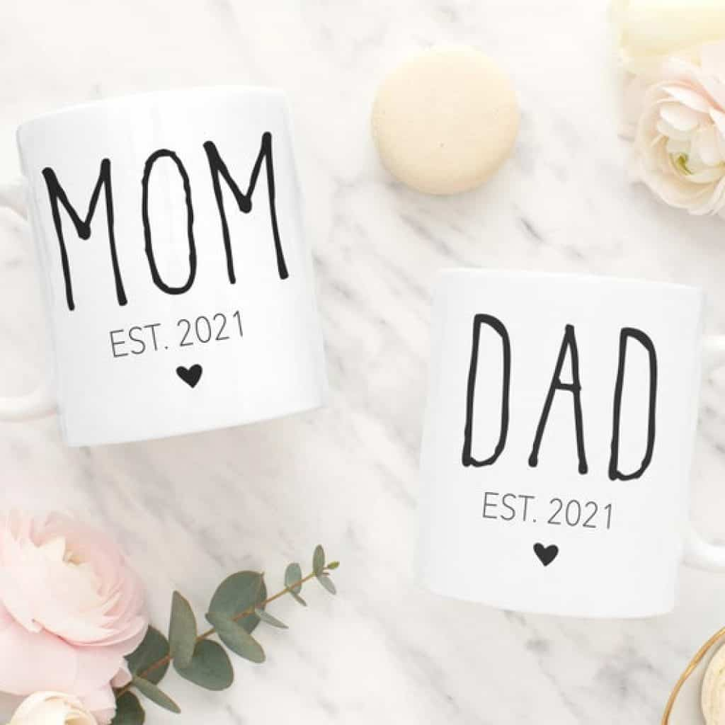 New Mom and Dad Mugs, Gifts for New Mom and Dad