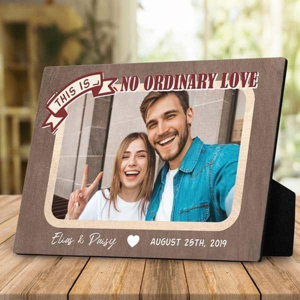 No Ordinary Love Desktop Plaque