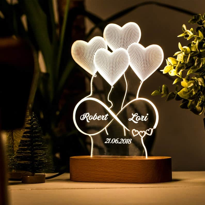 3D illusion lamp is a fantastic present for wife