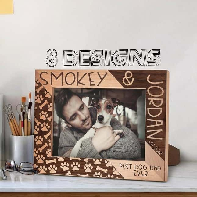 Personalized picture frame for dog father's day