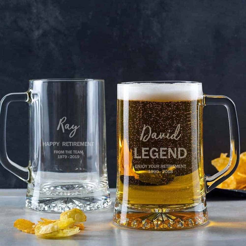 Personalized Retirement Beer Glass
