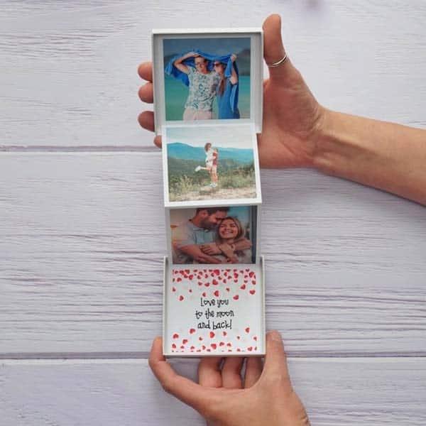 cute anniversary ideas for girlfriend: Photo Pull Up Box