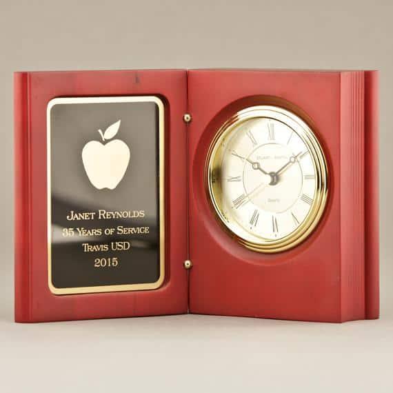 A Book Clock Gift for retired teacher