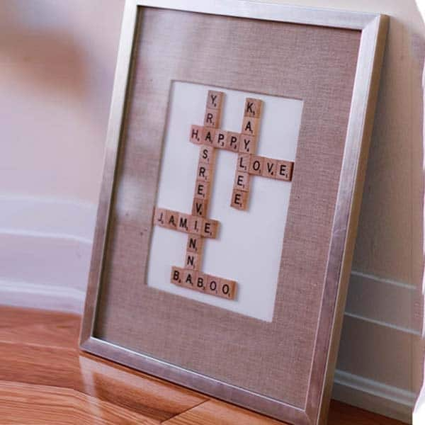 Scrabble Picture Frame