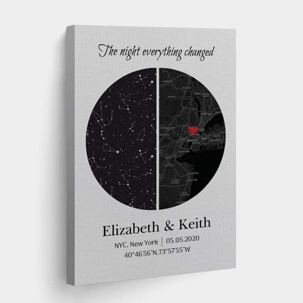 anniversary presents for girlfriend: The Night Everything Changed Star Map