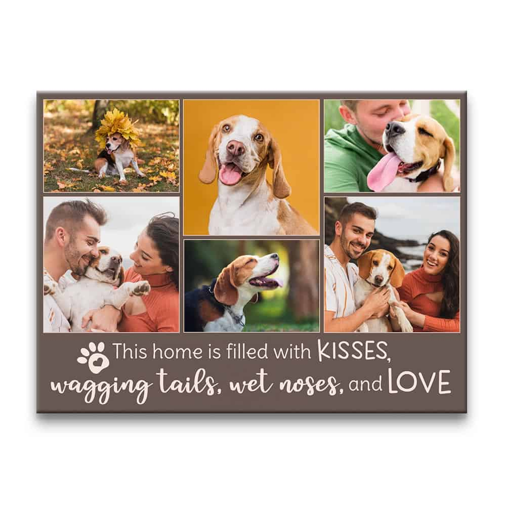Personalized photo collage canvas print for dog father