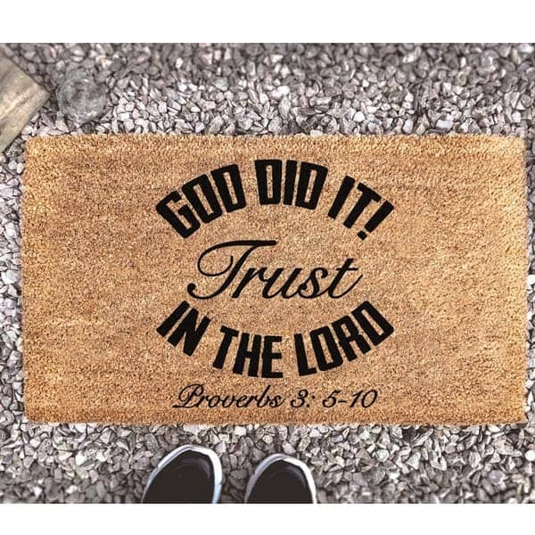 faith gifts for her: doormat